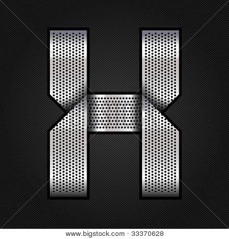 Letter metal chrome ribbon - X