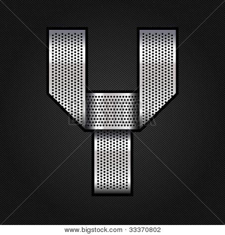 Letter metal chrome ribbon - Y