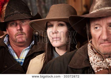 Three Desperadoes In Saloon