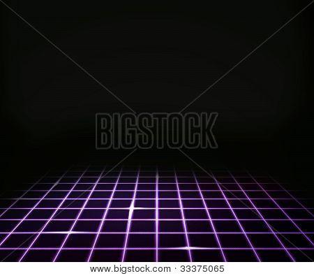 Violet Virtual Laser Floor Background