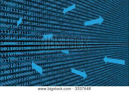 Fundo de transferência de dados binários