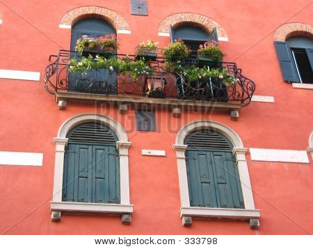 Italian balcony image photo bigstock for Balcony in italian