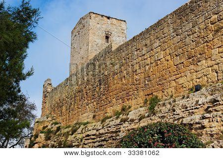 Castello di Lombardia medieval castle in Enna Sicily Italy