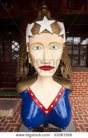 Wooden Figurehead Carved For Schooner Freedom