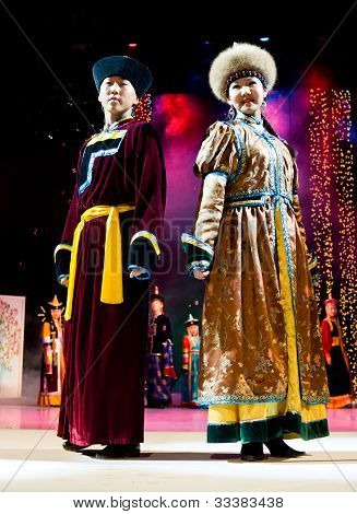 Models In Buryat (mongolian) Costumes