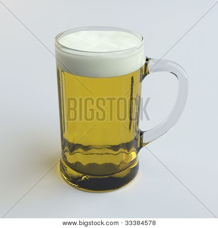 Beer In A Glass Mug