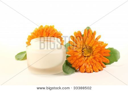 Marigold Salve With Blossom
