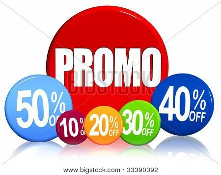 Different Percentages And Text Promo