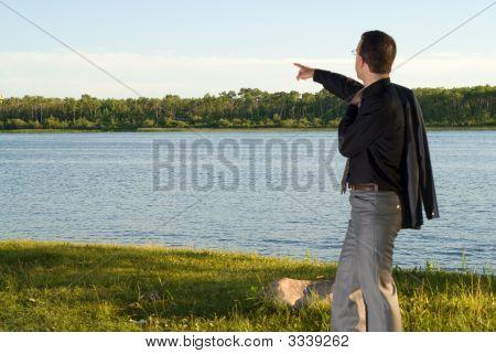 Businessman At The Lake