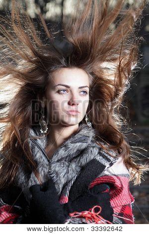 Young Cute Brunet Woman