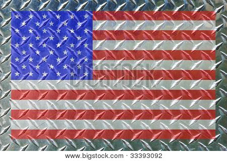 Framed Flag On Diamond Steel