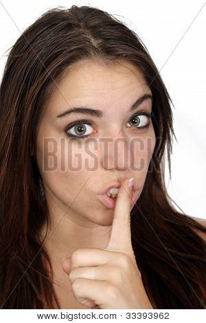 Attractive Secretive Or Quiet Brunette (1)