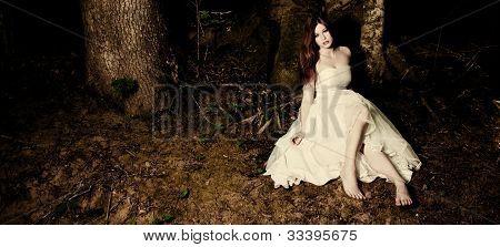 Bride In Dark Woods