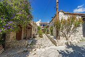 Lania Village In Cyprus-narrow Streets And Traditional Buildings. The Famous Village Of Creative Peo poster