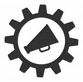 Marketing Automation Raster Icon. Flat Marketing Automation Symbol Is Isolated On A White Background poster