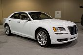 JACKSONVILLE, FLORIDA-FEBRUARY 18: A 2012 Chrysler 300 Limited at the Jacksonville Car Show on Febru