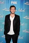 LOS ANGELES - MAY 23:  Phillip Phillips -  Winner of Season 11 American Idol in the Press Room of th