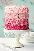 stock photo of ombres  - Ombre cake - JPG