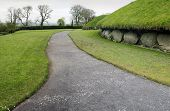 stock photo of corbel  - Knowth is a Neolithic Passage Grave 3300  - JPG
