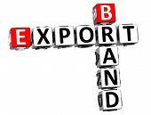 3D Brand Export Crossword poster