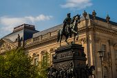 Berlin, Germany: The Equestrian Statue Of Frederick The Great Located At Unter Den Linden Boulevard  poster