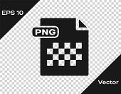Grey Png File Document. Download Png Button Icon Isolated On Transparent Background. Png File Symbol poster