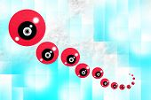 Red Volume Shiny Balls In Space, Geometric Abstract Patterns In A Trance State poster