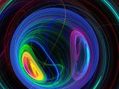 Colorful Fractal Plasma Sphere, Strings Of Chaotic Plasma Energy.  Smoke, Energy Ball Discharge, Sci poster