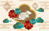 Happy New Year 2020 Greeting Card. Happy Chinese New Year, New Year 2020, Chinese New Year 2020 Year poster