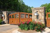 pic of gate  - Stately Entrance to a New Gated Community - JPG