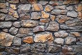 Stone Wall. Wall Of Hewn Wild Stone. Stone Background. Stone Texture For Creativity. poster