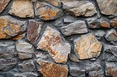 Stone Wall. Close-up Wall Of Wild Stone. Stone Background. Stone Texture For Creativity. poster
