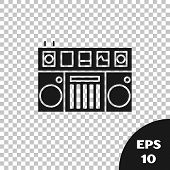 Black Dj Remote For Playing And Mixing Music Icon Isolated On Transparent Background. Dj Mixer Compl poster