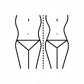 Black Line Icon For  Diet-control Diet Control Weightloss Waist Slim poster