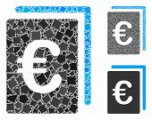 Euro Document Mosaic Of Tuberous Items In Different Sizes And Color Tinges, Based On Euro Document I poster