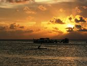 picture of promontory  - beautiful sunset at beach located on the Promontory of the island of Java Karimun - JPG