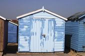 Repainted Beach Hut At Ferring. West Sussex. England