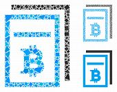 Bitcoin Price Pages Mosaic Of Inequal Items In Different Sizes And Color Hues, Based On Bitcoin Pric poster