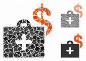 Medical Fund Case Mosaic Of Uneven Items In Different Sizes And Shades, Based On Medical Fund Case I poster