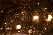 Electric Garland, Beautiful Decorative Wire Beads As Decoration For Holiday, Electric, Electrical, S poster