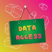 Word Writing Text Data Access. Business Concept For A User S Is Ability To Access Data Stored Within poster