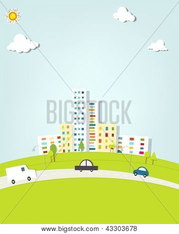 urban landscape with cars