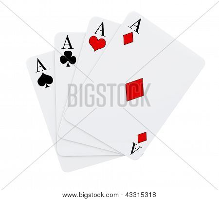 Four Aces Cards Suits