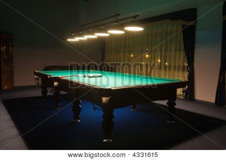 Billiard Room With