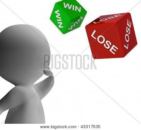 Win Lose Dice Shows Gambling