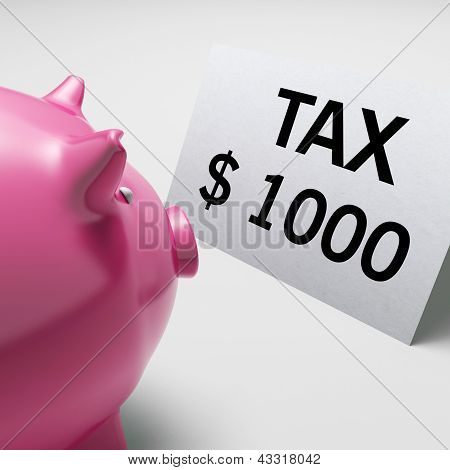 Tax Dollars Shows Irs Taxation Payment Due
