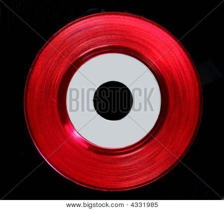 Red Vinyl 45 Record
