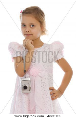 Young Pretty Girl Photographer