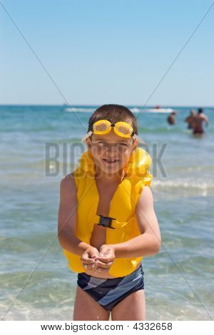 Boy At The Sea