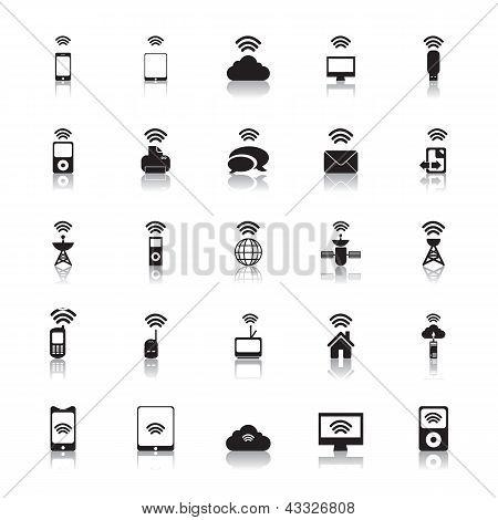 Hotspot-Icons Wireless-Vektor